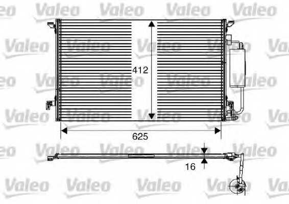 Конденсатор кондиционера VALEO 817711 - изображение