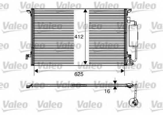 Конденсатор кондиционера VALEO 817712 - изображение