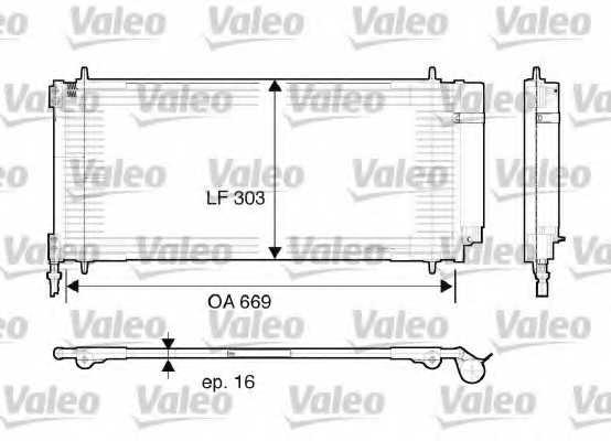 Конденсатор кондиционера VALEO 817740 - изображение