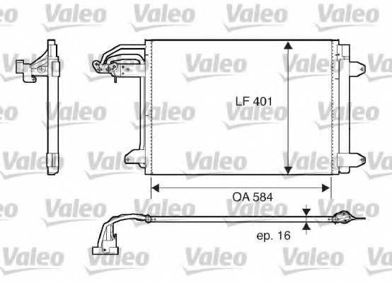Конденсатор кондиционера VALEO 817777 - изображение