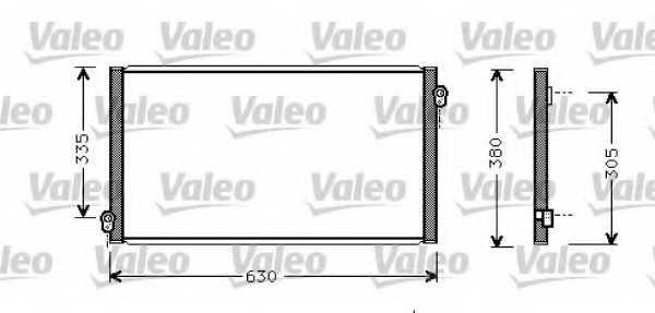 Конденсатор кондиционера VALEO 817783 - изображение