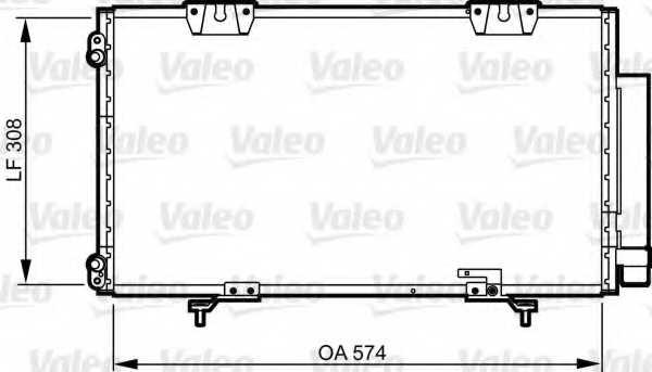 Конденсатор кондиционера VALEO 817802 - изображение