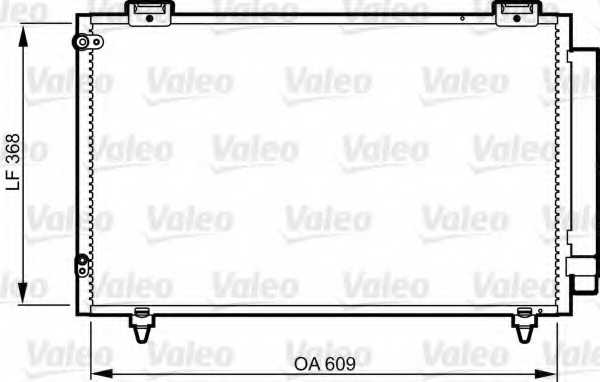 Конденсатор кондиционера VALEO 817805 - изображение