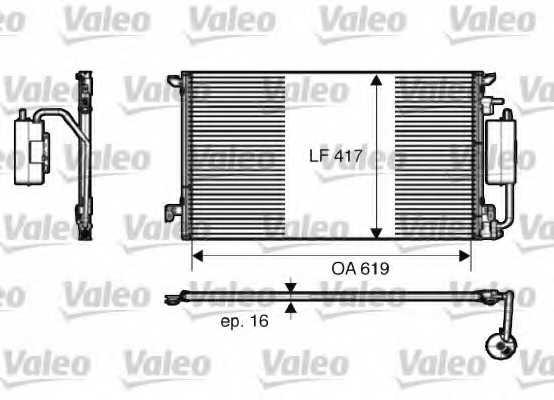 Конденсатор кондиционера VALEO 817809 - изображение