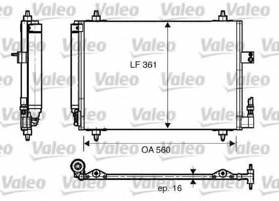Конденсатор кондиционера VALEO 817824 - изображение