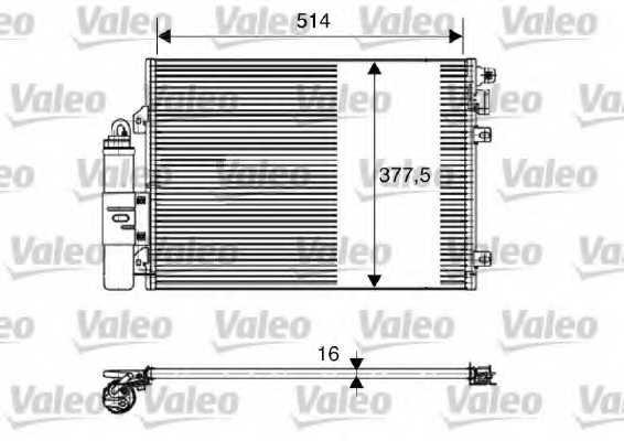 Конденсатор кондиционера VALEO 817827 - изображение