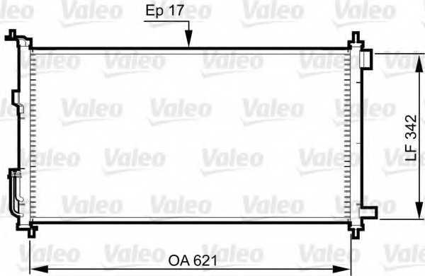 Конденсатор кондиционера VALEO 817836 - изображение