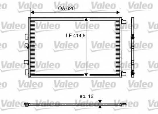 Конденсатор кондиционера VALEO 818002 - изображение