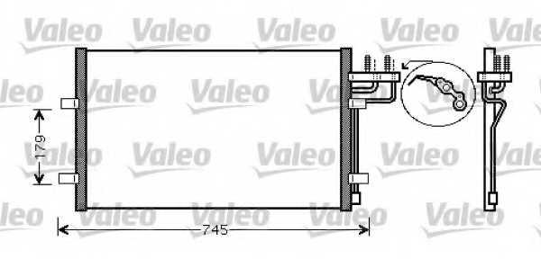 Конденсатор кондиционера VALEO 818046 - изображение