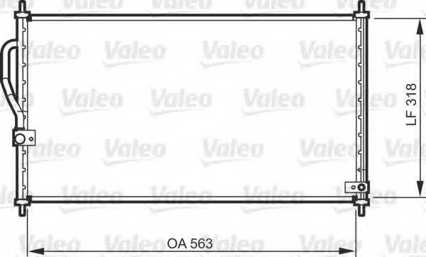 Конденсатор кондиционера VALEO 818070 - изображение