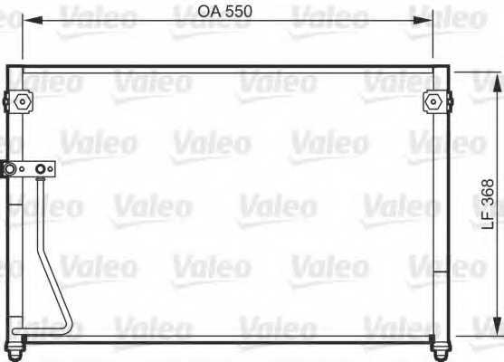 Конденсатор кондиционера VALEO 818085 - изображение