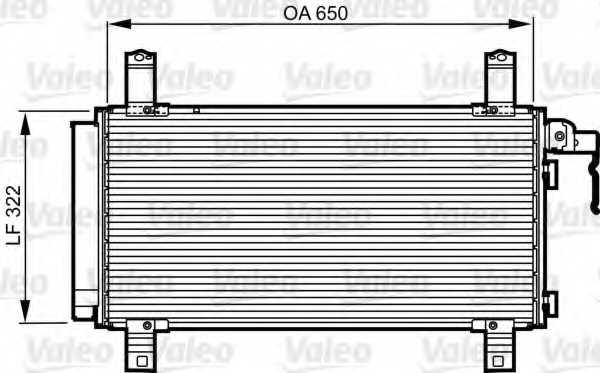 Конденсатор кондиционера VALEO 818090 - изображение