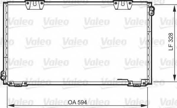 Конденсатор кондиционера VALEO 818104 - изображение