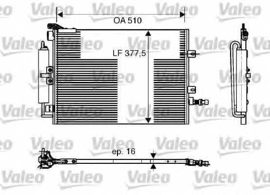 Конденсатор кондиционера VALEO 818165 - изображение