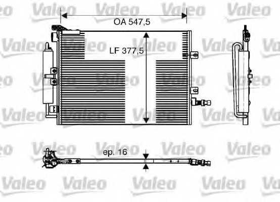 Конденсатор кондиционера VALEO 818166 - изображение