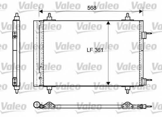 Конденсатор кондиционера VALEO 818170 - изображение