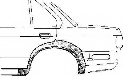 Боковина VAN WEZEL 0620148 - изображение