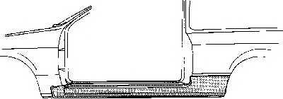 Накладка порога VAN WEZEL 3730102 - изображение