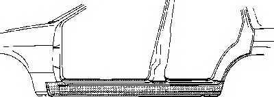 Накладка порога VAN WEZEL 4337104 - изображение