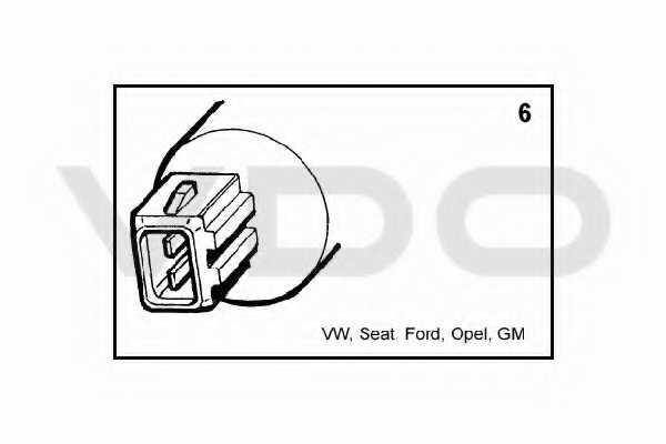 Водяной насос стеклоочистителя VDO 246-083-002-014Z - изображение 1
