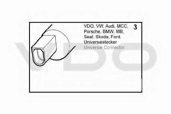 Водяной насос стеклоочистителя VDO 246-083-002-022Z - изображение 1