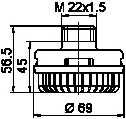 Глушитель шума, пневматическая система WABCO 432 407 060 0 - изображение 1