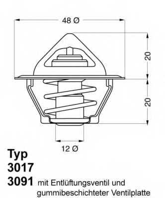 Термостат охлаждающей жидкости WAHLER 3017.87D50 - изображение
