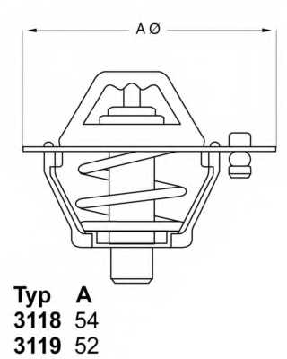 Термостат охлаждающей жидкости WAHLER 3119.88D5 - изображение