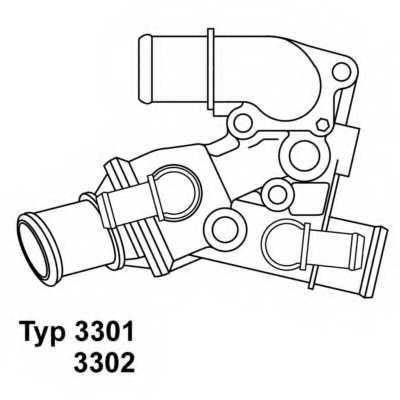 Термостат охлаждающей жидкости WAHLER 3301.80D - изображение