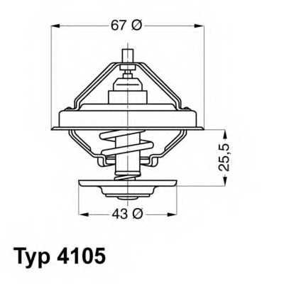 Термостат охлаждающей жидкости WAHLER 4105.71D - изображение