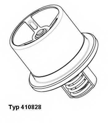 Термостат охлаждающей жидкости WAHLER 410828.86D0 - изображение