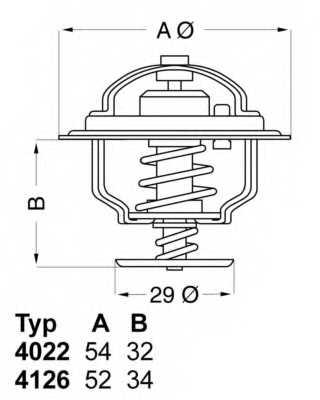 Термостат охлаждающей жидкости WAHLER 4126.88 - изображение