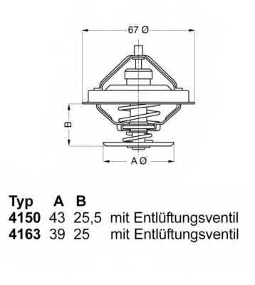 Термостат охлаждающей жидкости WAHLER 4163.79D - изображение