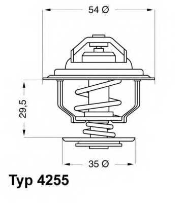 Термостат охлаждающей жидкости WAHLER 4255.87D - изображение