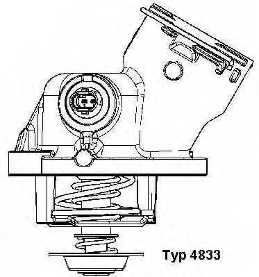 Термостат охлаждающей жидкости WAHLER 4833.100D - изображение