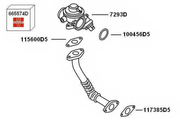 Клапан возврата ОГ WAHLER 7293D - изображение 1