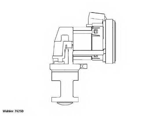 Клапан возврата ОГ WAHLER 7625D - изображение