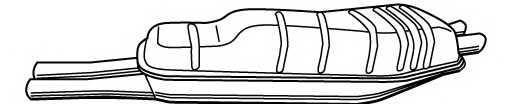 Глушитель выхлопных газов конечный WALKER 21352 - изображение