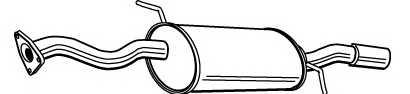 Глушитель выхлопных газов конечный WALKER 22708 - изображение