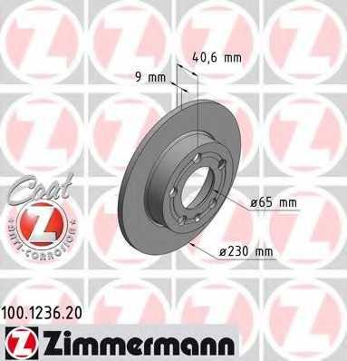 Тормозной диск ZIMMERMANN 100.1236.20 - изображение