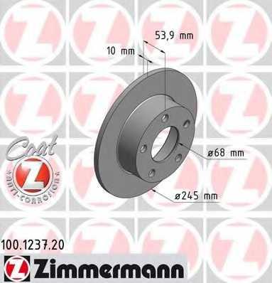 Тормозной диск ZIMMERMANN 100.1237.20 - изображение