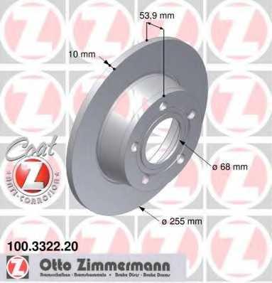 Тормозной диск ZIMMERMANN 100.3322.20 - изображение