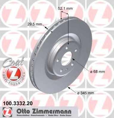 Тормозной диск ZIMMERMANN 100.3332.20 - изображение