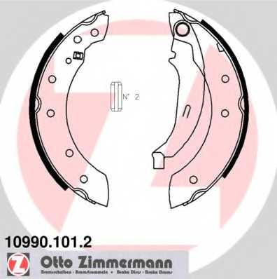 Комплект тормозных колодок для CITROEN C15, SAXO, XSARA, ZX / PEUGEOT 106, 206, 306 / RENAULT CLIO, LAGUNA, SANDERO/STEPWAY, TWINGO / VOLVO V70 <b>ZIMMERMANN 10990.101.2</b> - изображение