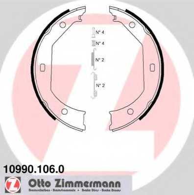 Комплект колодок стояночной тормозной системы ZIMMERMANN 10990.106.0 - изображение