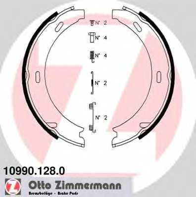 Комплект колодок стояночной тормозной системы ZIMMERMANN 10990.128.0 - изображение