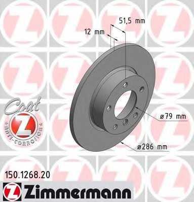 Тормозной диск ZIMMERMANN 150.1268.20 - изображение
