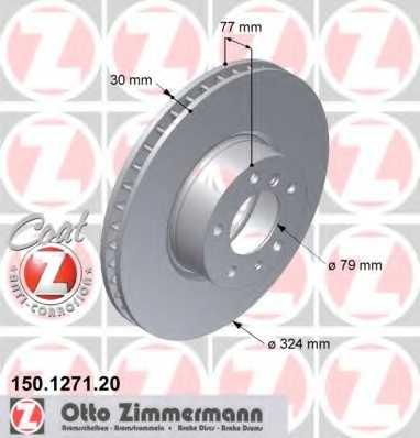Тормозной диск ZIMMERMANN 150.1271.20 - изображение