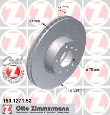 Тормозной диск ZIMMERMANN 150.1271.52 - изображение