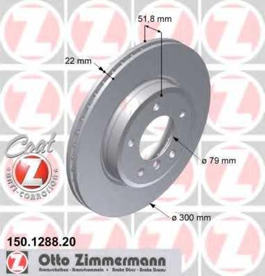 Тормозной диск ZIMMERMANN 150.1288.20 - изображение